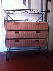 Project!!! Wicker Chest of Drawers for Up-cycling Bar Cart / Can Deliver