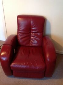 Recliner electric leather chair