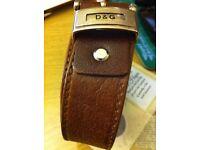 D & G Brown Leather Belt.