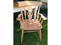 """Two solid pine """"Gurteen"""" carver chairs"""