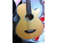 Crafter semi-acoustic bass for sale