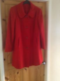 Ladies red coat