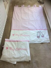 Girls pink curtains from next 66x54