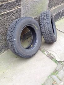 BRIDGESTONE DUELER A/T 205/70/15 - TWO TYRES