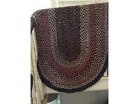 Vintage braided rug, probably American