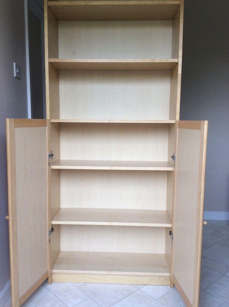Ikea Billy Bookcase Birch Veneer With 2 Doors