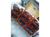 Boxes of die cast cars