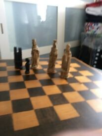 Chess set with a difference.