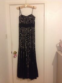 Black and gold prom, evening, party dress size 10