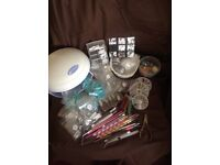 Nail lamp with lots of items