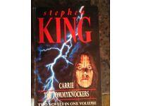 Stephen King Hardback Carrie & Tommyknockers Volume