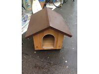 Ferplast medium size wooden dog kennel
