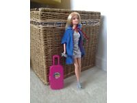 9 Barbie dolls plus furniture and clothes