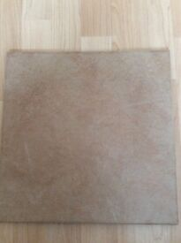 "17 large 'Colarado Sand' floor tlies size 13"" x 13"""