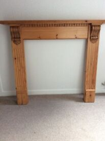 Pine Surround for Fire or Cast Iron Insert