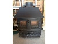 Wood Burner removed unused from fireplace during a house refurbishment