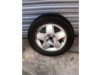 Mk 3 Vauxhall Astra Alloy Wheel fitted with a New 195 60 14 Tyre - Great for a spare wheel