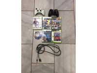 Xbox 360 games, controller and cable