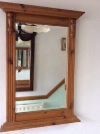 Ducal Antique Pine Frame Mirror
