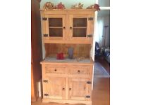 Wooden( pine) display cabinet suitable for kitchen or dining room