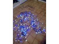 Coloured Tree Lights (100 Blue + 100 White)
