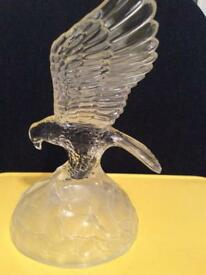 Crystal eagle figurine