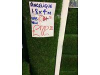 Artificial grass roll end, brand new, 1.8 x 4m bargain £72