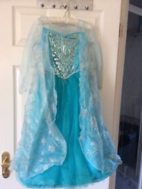 Disney Frozen Elsa dress, shoes, gloves and wig. Age 5-6