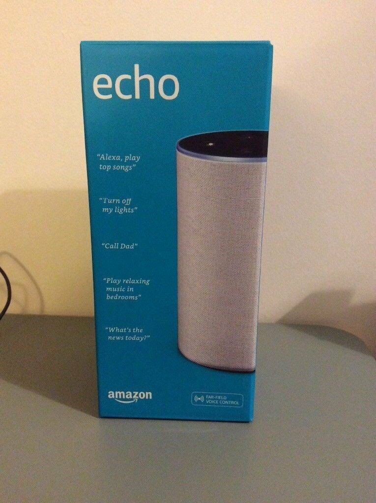 BRAND NEW, UNOPENED Amazon Echo (2nd generation) Alexa, Sandstone fabric, SEALED in its original box