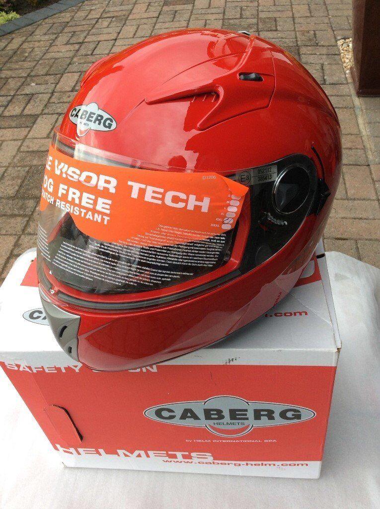 Motorcycle Helmet Red - Coberg 104 V2. New Boxed XXL