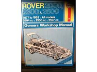 Haynes Manual For Rover 2000, 2300 & 2600 ( SD1 ) 77-85