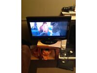 LG 32 inch LCD 32LD320 HD ready television with built in freeview.
