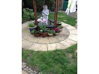 Garden Patio Circle Garden Concrete Slabs