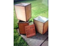 16 x wooden storage crates, chests, boxes for house move, storage or feature ??