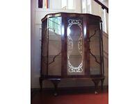 Vintage or Antique Large Display Cabinet from RIVINGTON London Cabinet Works / Can Deliver