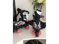 Almost new roller boots