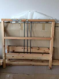 Single bed frame from pine wood