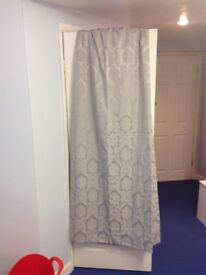 Long Heavy Silver Curtains