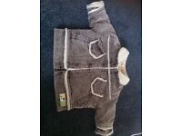 Wool lined boys coat 0-3 months