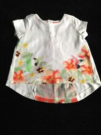 TED BAKER BABY GIRL SUMMER TOP 3-6 MONTHS