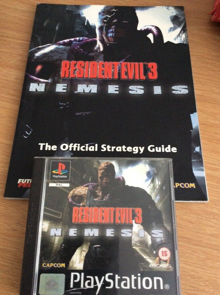 Resident Evil 3 Nemesis - PS1 Game & Guide Book - Very Rare