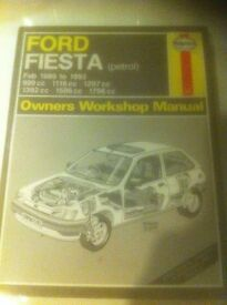 Haynes Workshop Manual For Ford Fiesta Mk 3, 89-93