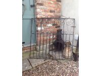 Pair of very heavy old wrought iron gates