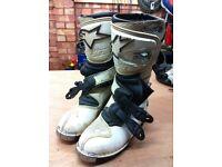 motorcycle boots alpinestar size 4 moto x