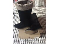 Dune black suede Boots size 5