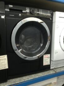 Beko black washer dryer. 8/5kg capacity. £349 new/graded 12 month Gtee