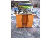 Fish tank and cabinet with many extras
