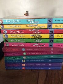 12 Enid Blyton children's books.
