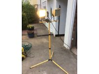 Site work light on stand