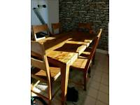 Oak furniture land 6 seat table brand new